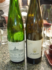 Stunning Hofstatter Gewurktraminer on right from Alto Adige, the predominantly German speaking province of northern Italy.
