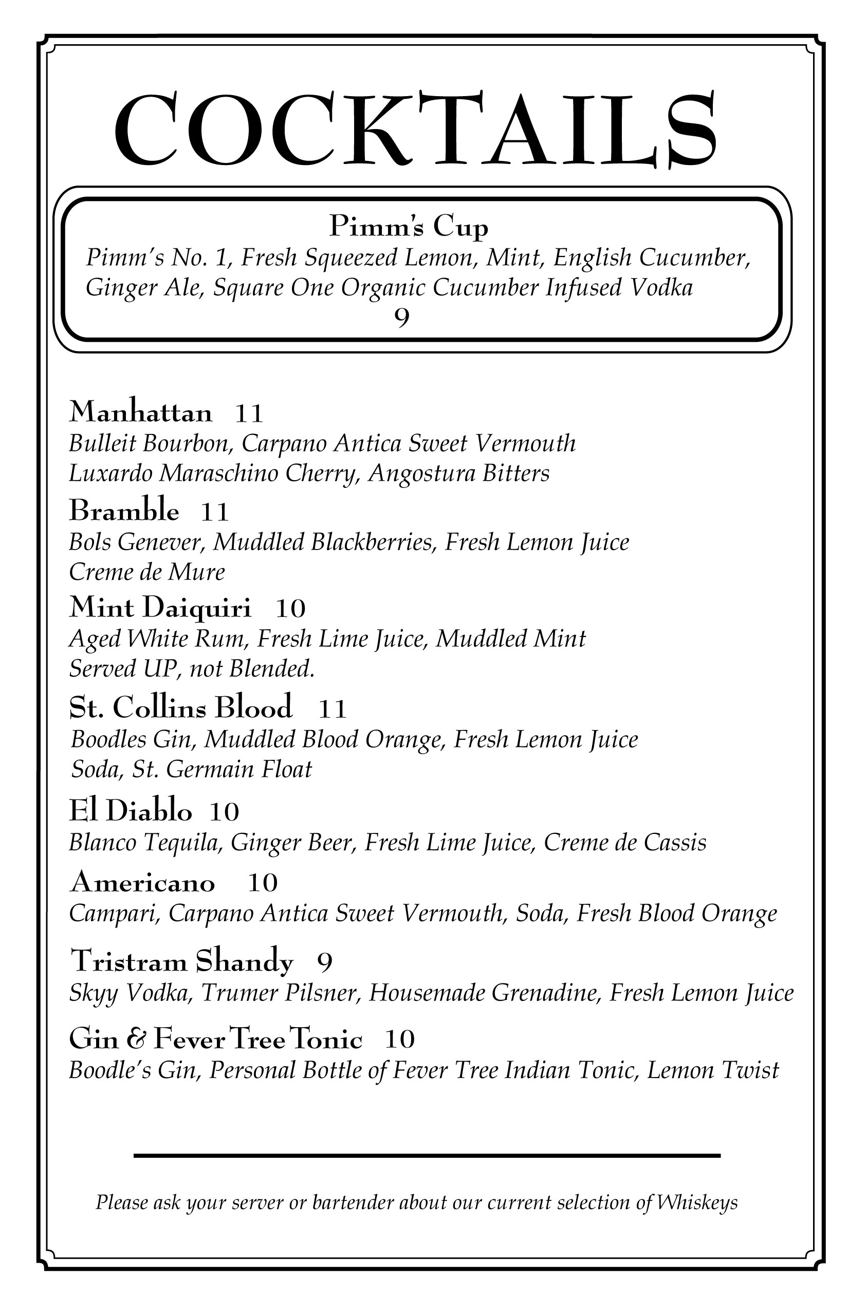 cocktail list web